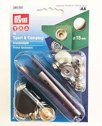 Painonappi (hopea), sport & camping, 15 mm