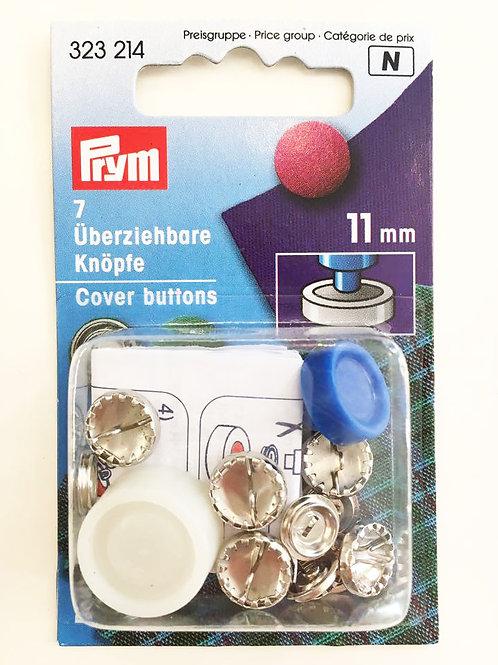 Päällystettävä nappi (metalli) 11 mm
