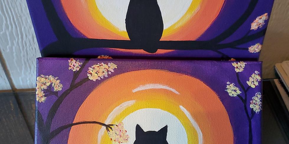 Paint Night - owl or cat