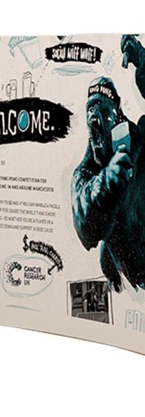 VELCRO FABRIC POP UP DISPLAY - CURVE SHAPE