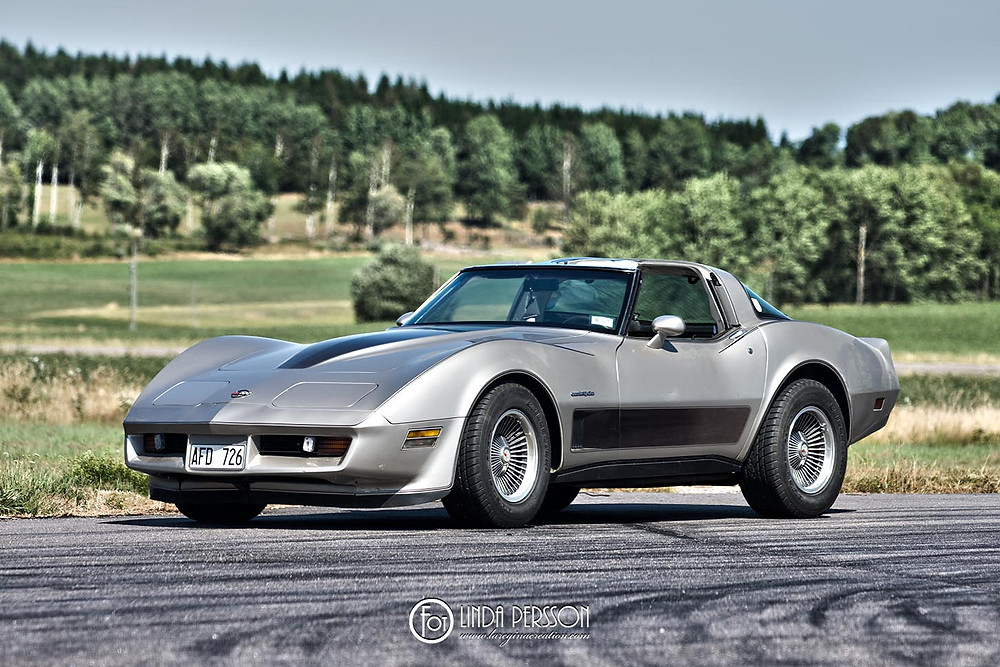 1982 Chevrolet Corvette, photographed at Vårgårda Dragway 2018