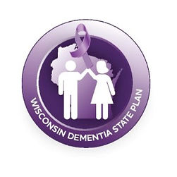 WI state dementia plan logo concept imag