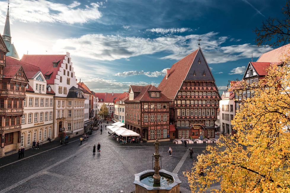 historischer Marktplatz Hildesheim im He