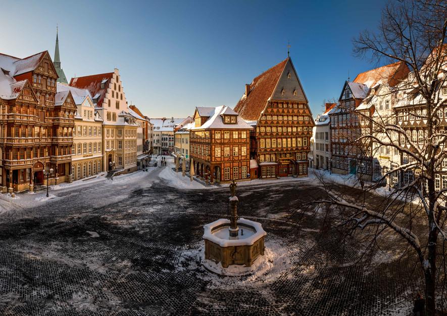 Panorama historischer Marktplatz