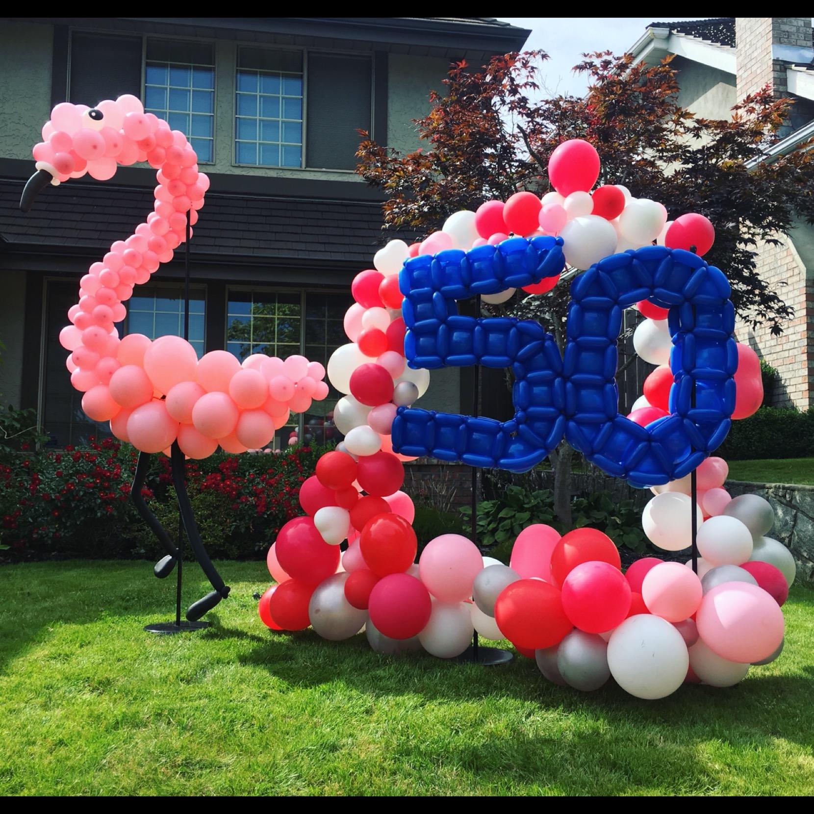 Giant Flamingo Yard Decor