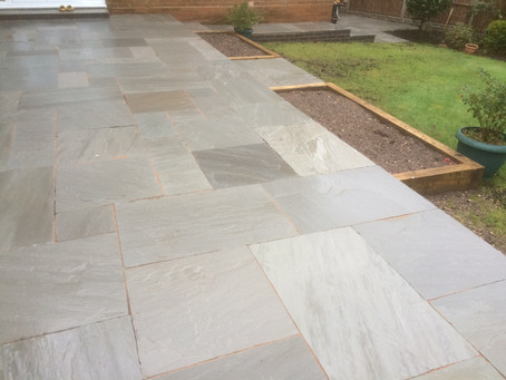 Natural Sand Stone Patio and Paths