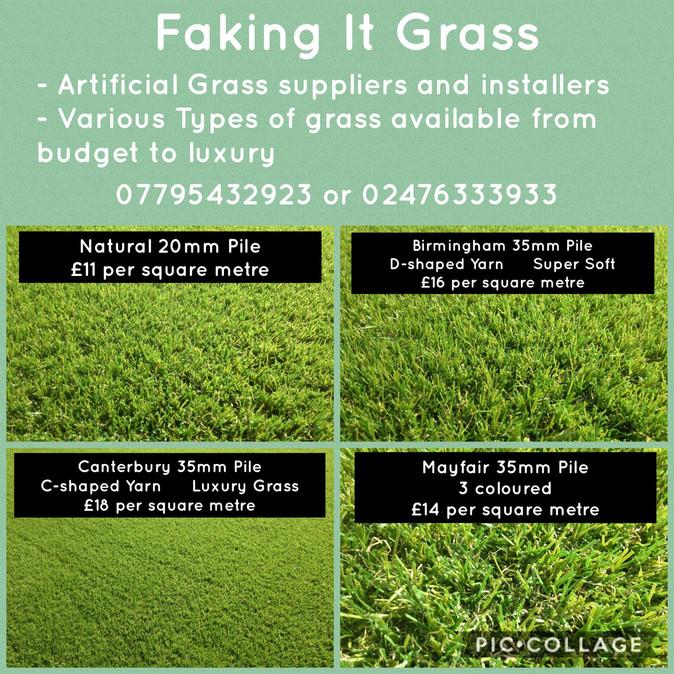 Faking it Grass