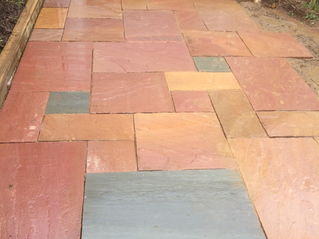 Natural Sand stone patio and steps