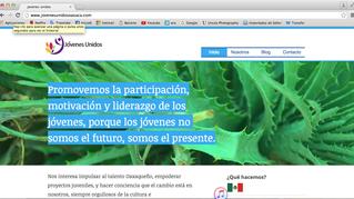 Diseño web para una fundación #JóvenesUnidos