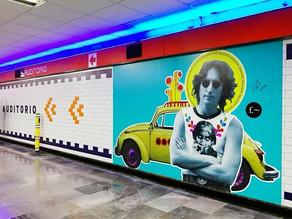 Oaxaqueño decora el metro de la CDMX