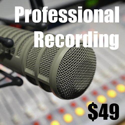 Professional Recording