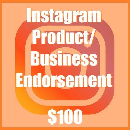Instagram Product/Business Endorsement