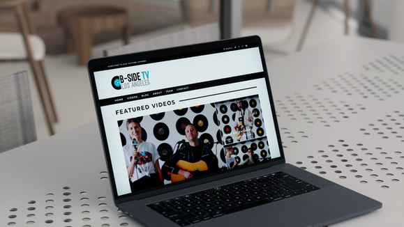 B-Side TV // Website Design