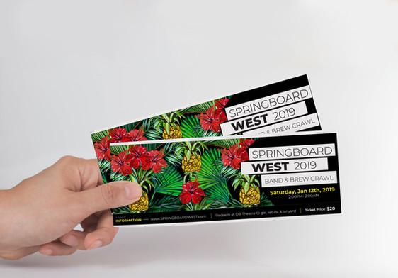 SPRINGBOARD WEST // Tickets