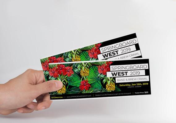 SPRINGBOARD WEST // Tickets