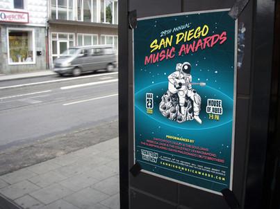 SAN DIEGO MUSIC AWARDS // Graphics