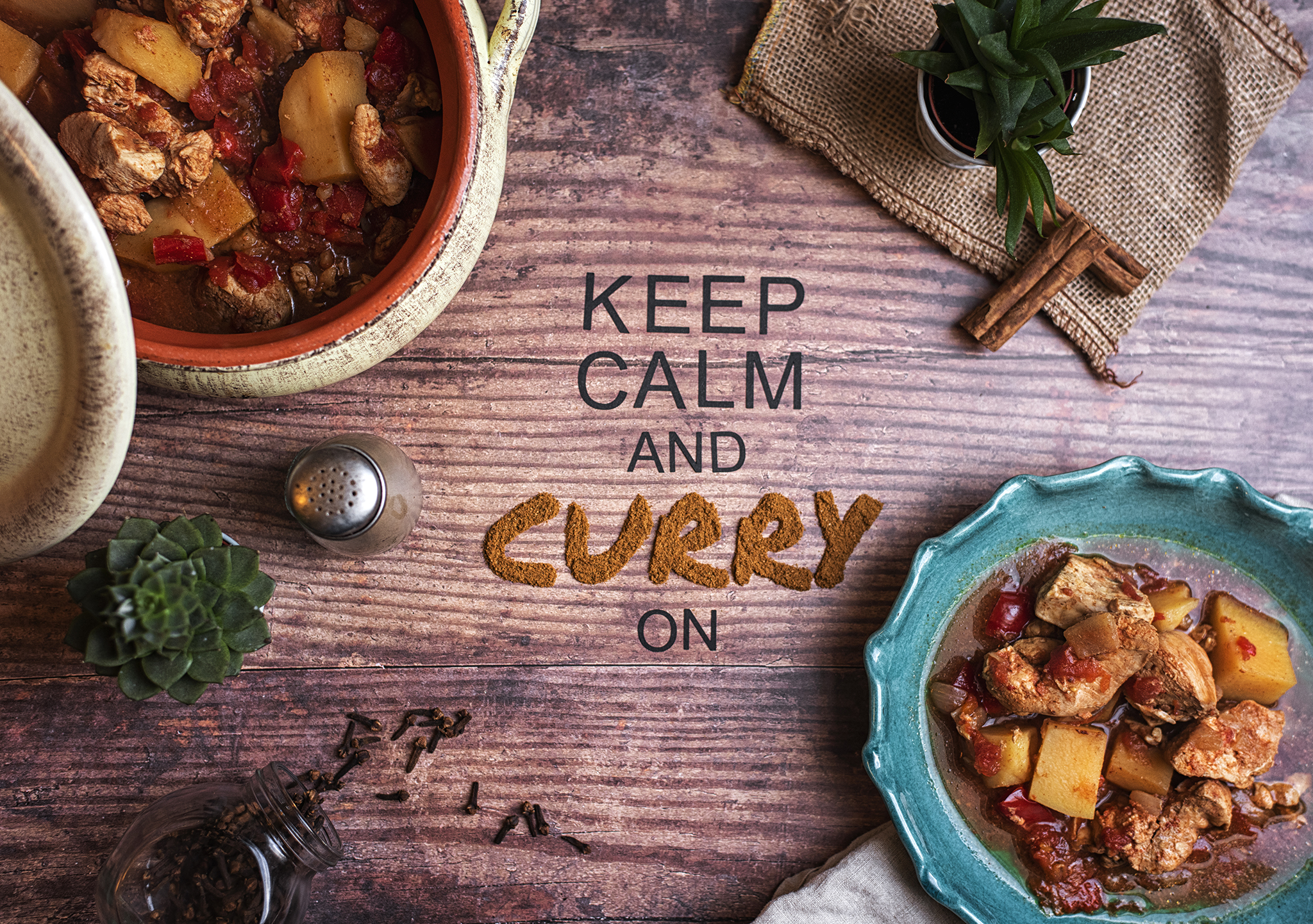 Curry Typography Creative Photography