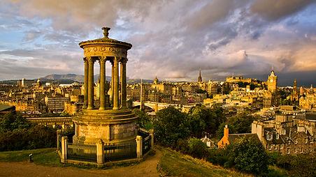Edinburgh, Scotland Cityscape at Sunrise