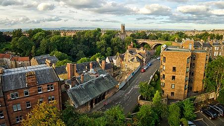 View over Dean Village, Edinburgh Scotla