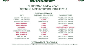 DN Christmas Opening & Delivery Times