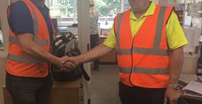 Day shift driver Andy Unsworth is awarded Employee of the Month...
