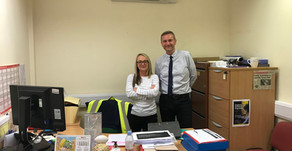 Chloe McDermott receives our latest employee recognition award...