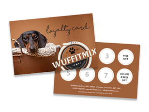 Ask in store for your WuffitMix Loyalty Card...