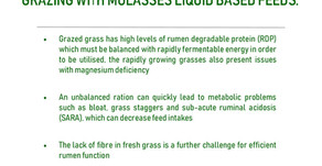 ED&F Man - Extract The Greatest Value From Low-Cost Grazing With Molasses Based Liquid Feeds.