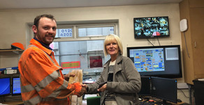 Debby Dolan receives our latest employee recognition award...