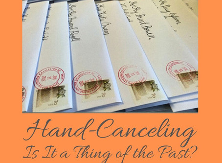 Hand-Canceling - Is It a Thing of the Past?