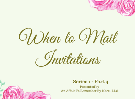 Mailing the Invitations (Series 1 - Part 4 of 4)