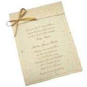 A7 Foldover Seed Paper Invitation