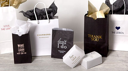 A variety of bags and boxes