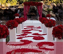 Freeze Dried Red Roses Designed Aisle