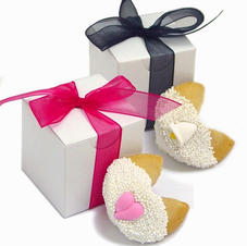 Wedding Fortune Cookies - Individually Boxed with Ribbon