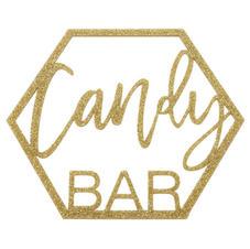 Laser Cut Glitter Acrylic Candy Bar Sign