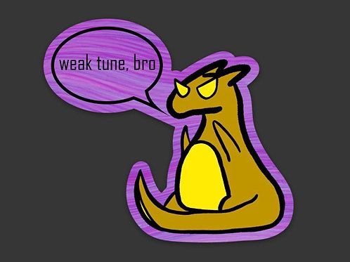 Weak Tune Die Cut Sticker
