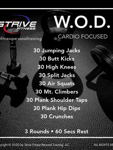 Workout of the Week - 9/25/20