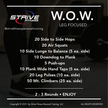 Workout for the Weekend - 2/19/21