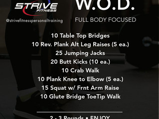 Workout of the Week - 1/8/21