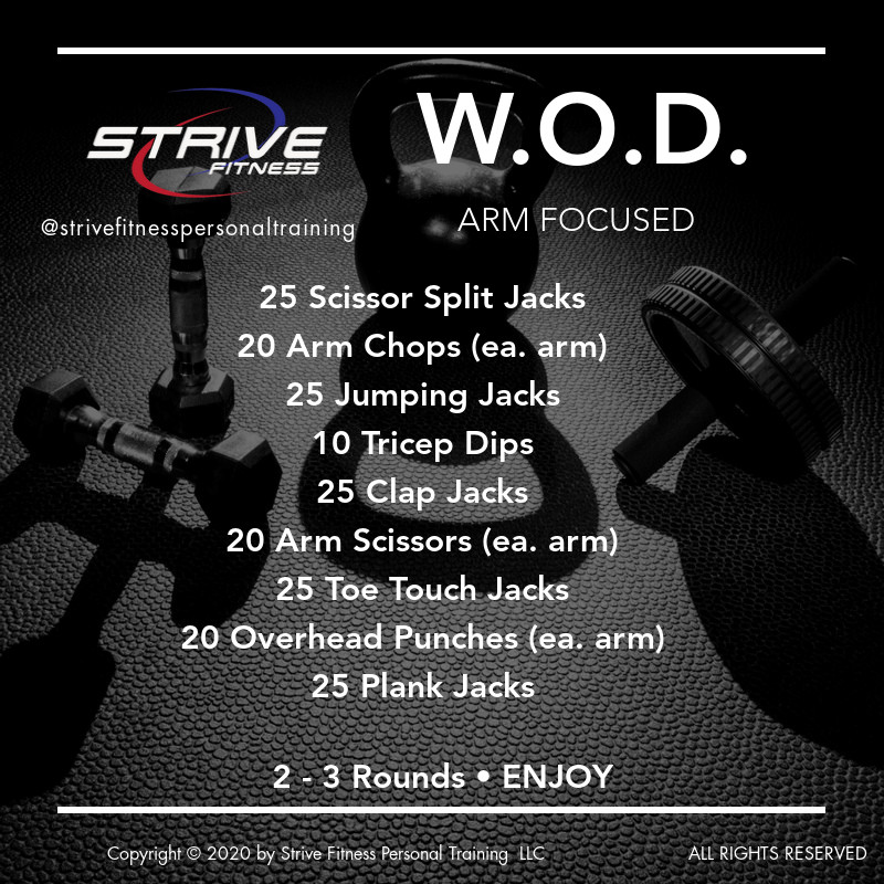 Arm Focused - Workout of the Day Idea