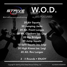 Workout of the Week - 10/23/20