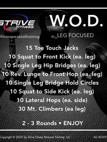 Workout of the Week - 12/11/20