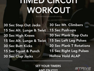 Workout for the Weekend - 5/28/21