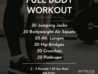 Workout for the Weekend - 4/2/21
