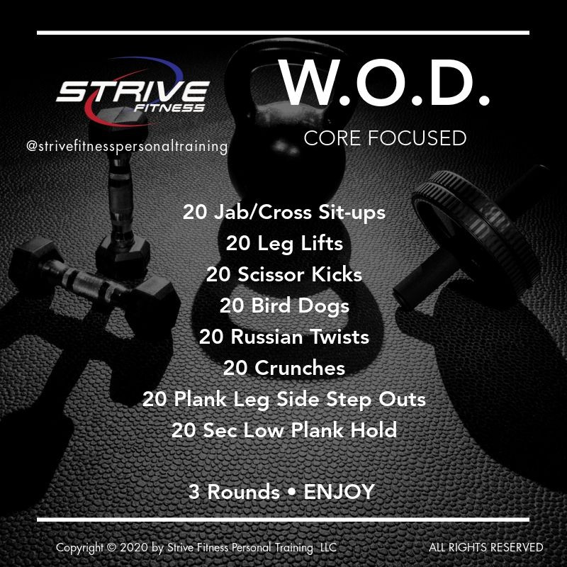 Core Focused - Workout of the Day Idea