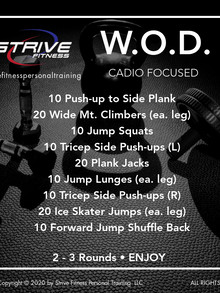 Workout of the Week - 10/17/20