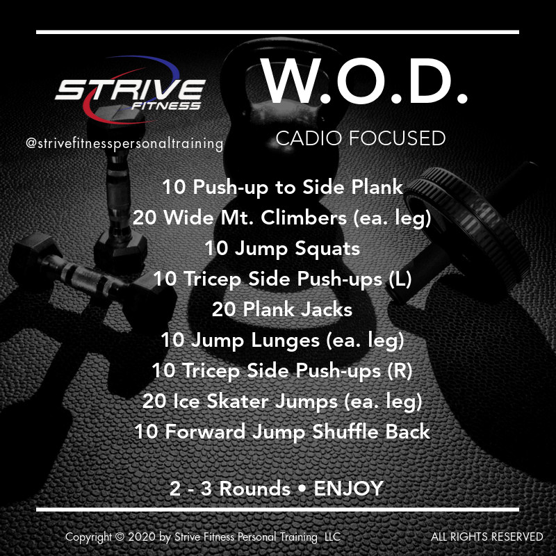 Cardio Focused - Workout of the Day Idea