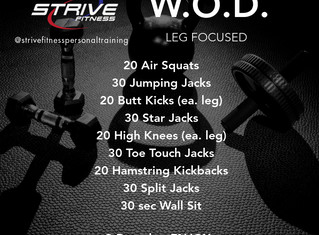 Workout of the Week - 10/10/20