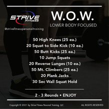 Workout for the Weekend - 1/29/21